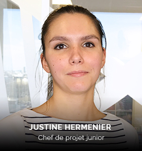 Justine Hermenier, chef de projet junior